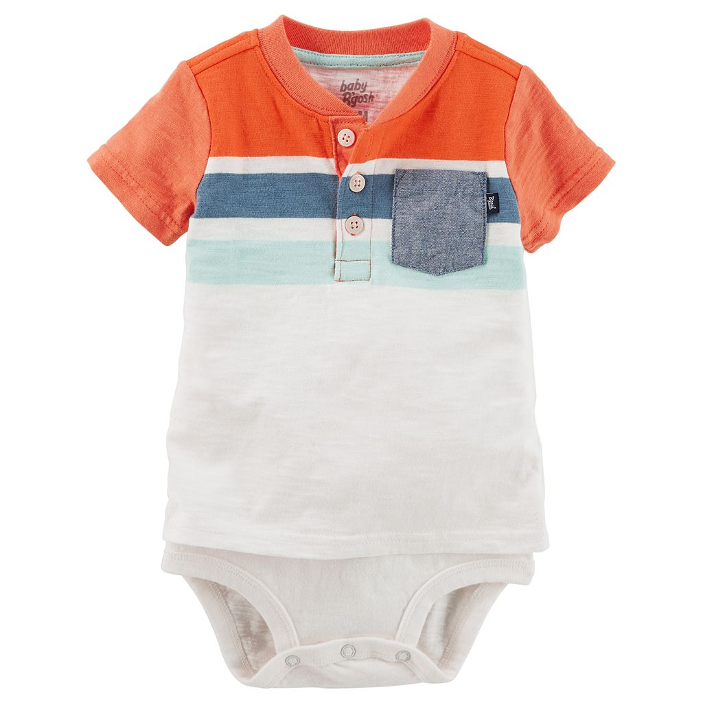 Baby Boy OshKosh B'gosh® Mock-Layered Henley Bodysuit