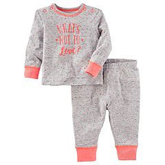 Baby OshKosh B'gosh® 'What's Not to Love?' Heart-Print Top & Pants Set