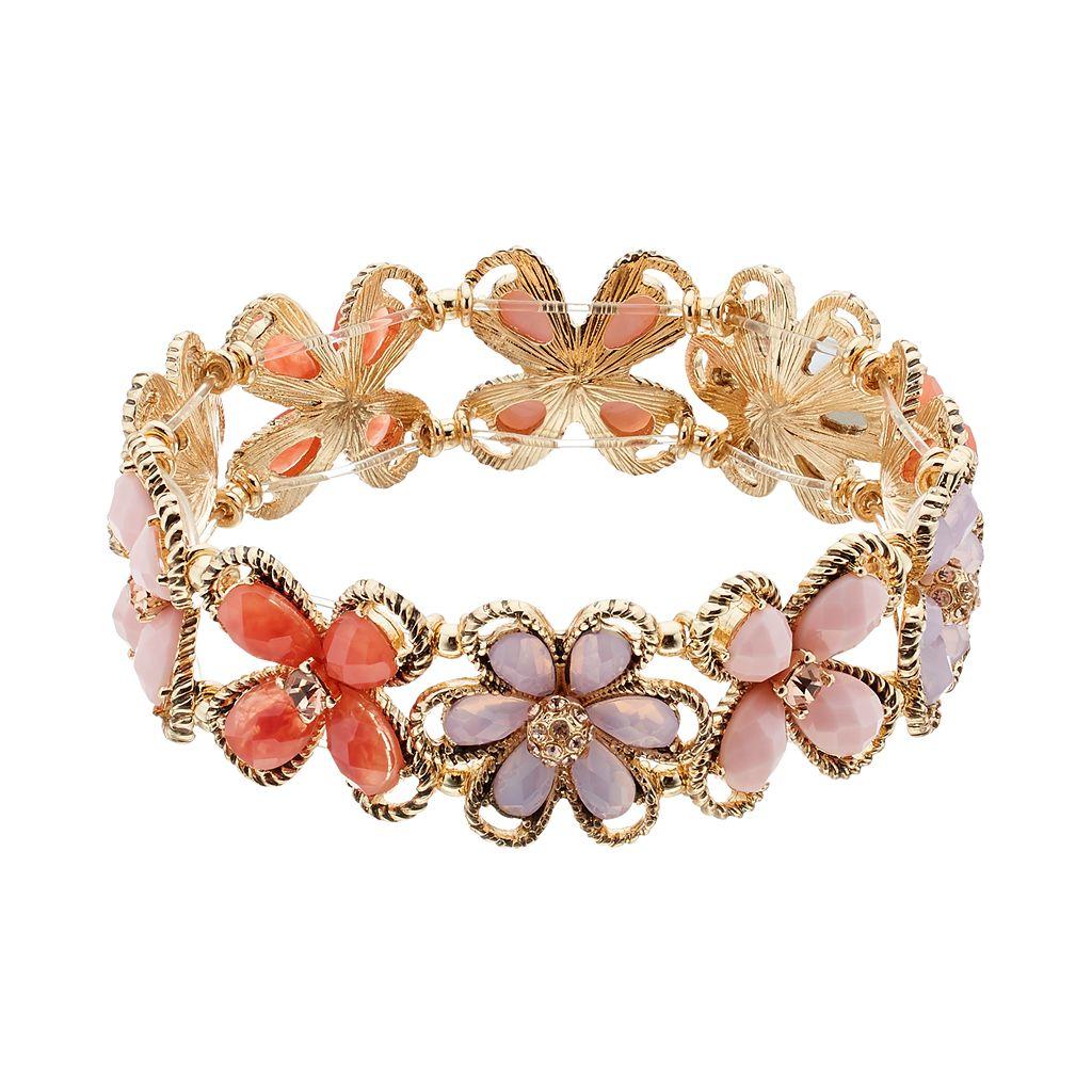 Dana Buchman Flower Stretch Bracelet
