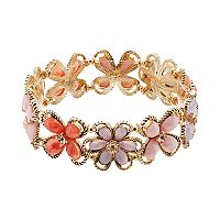Dana Buchman Flower Stretch Bracelet