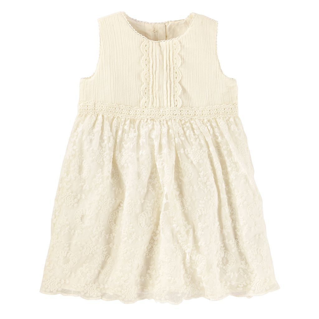 Toddler Girl OshKosh B'gosh® Pintuck Lace Dress
