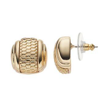 Dana Buchman Textured Barrel Drop Earrings