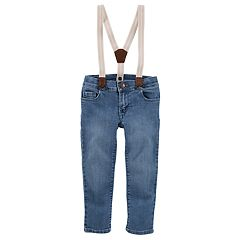 Toddler Girl OshKosh B'gosh® Sparkle Suspender Jeans