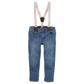 Toddler Girl OshKosh B'gosh® Sparkle Suspender Jeans
