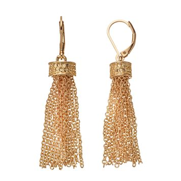 Dana Buchman Chain Tassel Drop Earrings