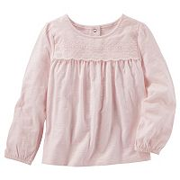 Toddler Girl OshKosh B'gosh® Eyelet Yoke Top