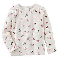 Toddler Girl OshKosh B'gosh® Slubbed Deer & Nature Printed Top