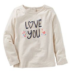 Toddler Girl OshKosh B'gosh® 'Love You' Long Sleeved Graphic Tee