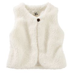 Toddler Girl OshKosh B'gosh® Ivory Sherpa Vest
