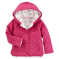 Toddler Girl OshKosh B'gosh® Lightweight Floral-Lined Quilted Jacket