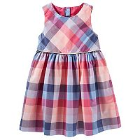 Toddler Girl OshKosh B'gosh® Button-Back Plaid Dress