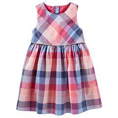 Toddler Girl OshKosh B'gosh® Button-Back Plaid Dress