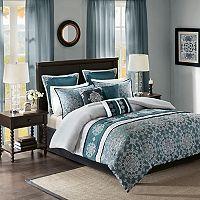 Madison Park 9 pc Everett Jacquard Comforter Set