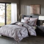 Madison Park 7-piece Hailey Jacquard Duvet Cover Set