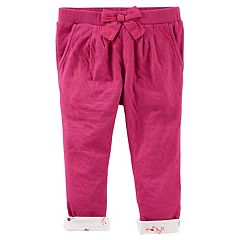 Toddler Girl OshKosh B'gosh® Floral Cuff Pull-On Pants