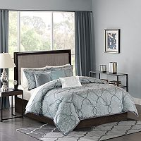 Madison Park 6-piece Anouk Jacquard Duvet Cover Set