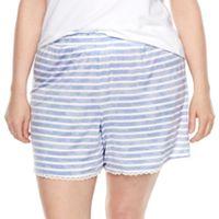 Plus Size SONOMA Goods for Life™ Pajamas: Essential Scallop Hem Shorts