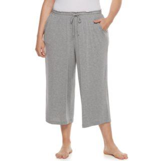 Plus Size SONOMA Goods for Life™ Pajamas: Essential Wide Leg Lounge Capris