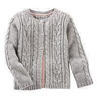 Toddler Girl OshKosh B'gosh® Cable Knit Cardigan Sweater