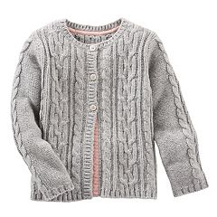 Toddler Girl OshKosh B'gosh® Cable Knit Cardigan Sweater