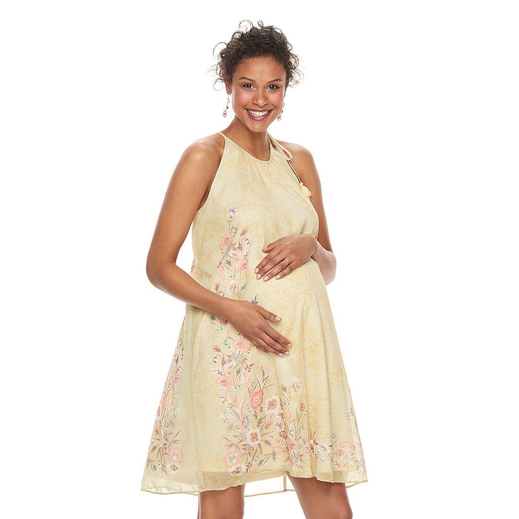 Maternity a:glow Floral Halter Dress
