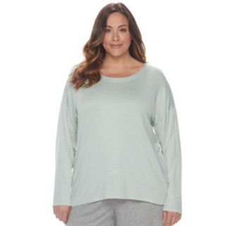 Plus Size SONOMA Goods for Life™ Pajamas: Essential Long Sleeve Tee