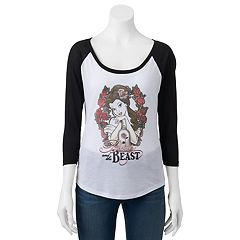 Disney's Beauty and the Beast Juniors' Belle Roses Graphic Tee