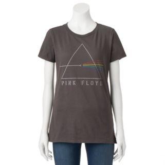 Juniors' Pink Floyd Refracting Prism Graphic Tee