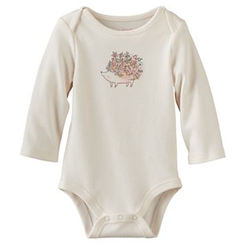 Baby Girl Jumping Beans® Floral Hedgehog Graphic Bodysuit