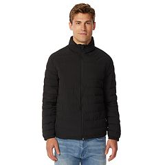 Men's Heat Keep Modern-Fit Packable Stretch Puffer Jacket
