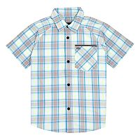 Boys 4-7 Hurley Plaid Raglan Button Down Shirt