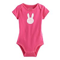 Baby Girl Jumping Beans® Graphic Picot-Trim Bodysuit
