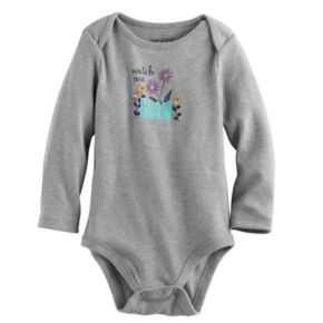 "Baby Girl Jumping Beans® ""Watch Me Grow"" Graphic Bodysuit"