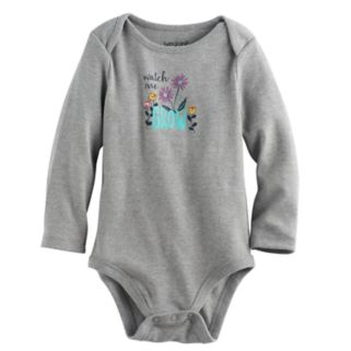 """Baby Girl Jumping Beans® """"Watch Me Grow"""" Graphic Bodysuit"""