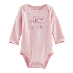 Disney's Winnie the Pooh & Piglet Baby Girl 'Love' Graphic Bodysuit By Jumping Beans®