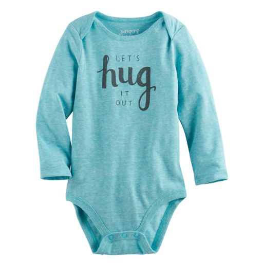 """Baby Girl Jumping Beans® """"Let's Hug It Out"""" Nep Bodysuit"""