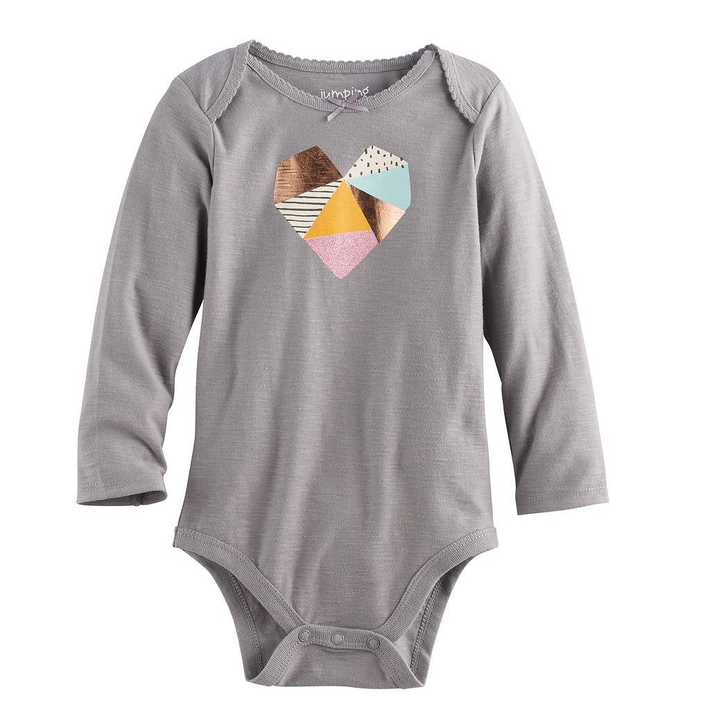 Baby Girl Jumping Beans® Graphic Slubbed Bodysuit