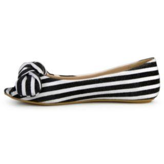 Journee Teslin Girls' Peep Toe Flats