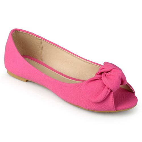 Journee Teslin Girls' Peep Toe Flats