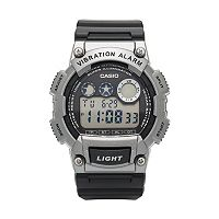 Casio Men's 10-Year Battery Digital Vibration Alarm Watch - W-735H-1A3VCF
