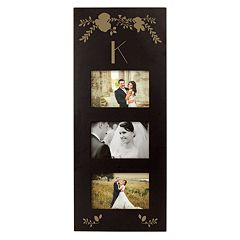 Cathy's Concepts Monogram 3-Opening 5.5' x 3.5' Collage Frame