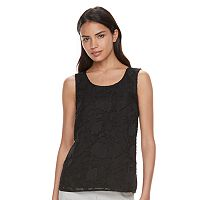 Women's ELLE™ Embroidered Mesh Tank