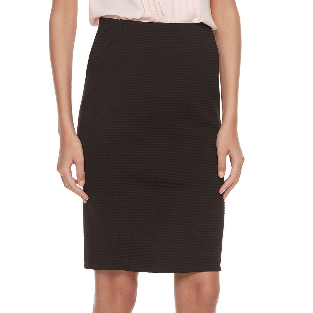 Women's ELLE™ Ribbed Pencil Skirt