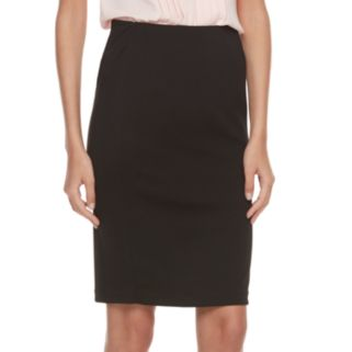 Women's ELLE™ Ribbed Pencil Skirt