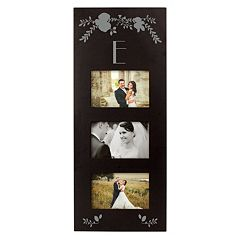 Cathy's Concepts Black Monogram 3-Opening 5.5' x 3.5' Collage Frame