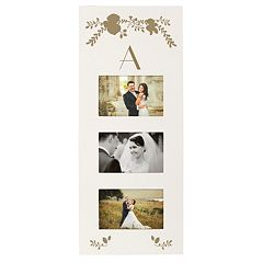 Cathy's Concepts Gold Finish Monogram 3-Opening 5.5' x 3.5' Collage Frame