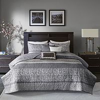 Madison Park 6 pc Melody Quilted Coverlet Set