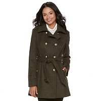 Juniors' IZ Byer Double-Breasted Trench Coat