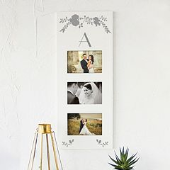 Cathy's Concepts White Monogram 3-Opening 5.5' x 3.5' Collage Frame