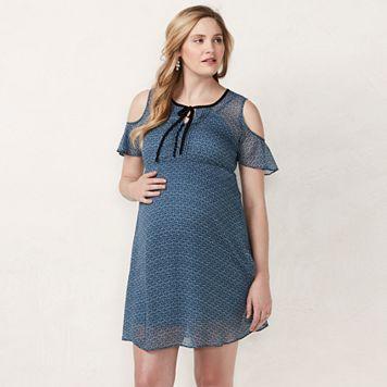 Maternity LC Lauren Conrad Cold-Shoulder Empire Dress